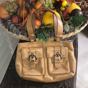 Coach brown leather Soho satchel